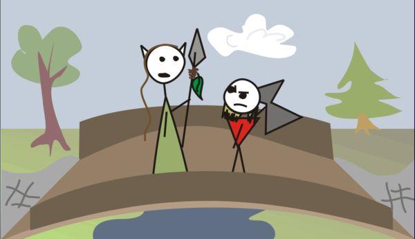 druid i krasnolud na moście