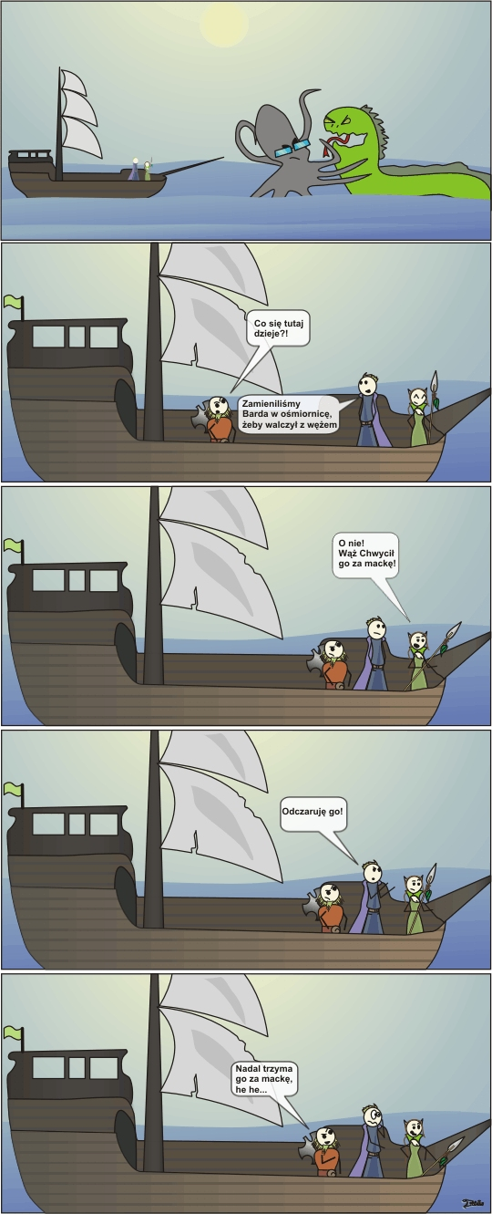 ośmiornica komiks druidka