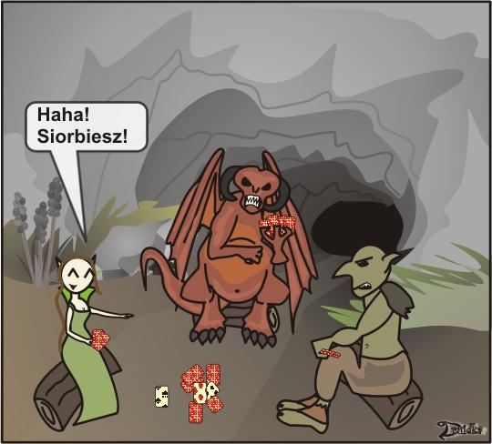 druidka komiks karty gnoll demon