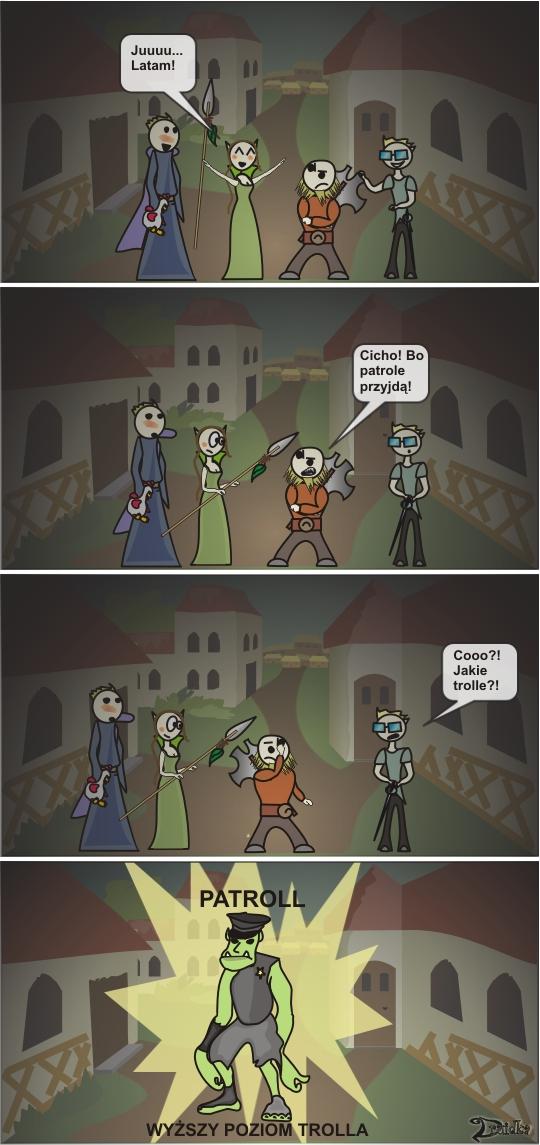 patrol troll druidka komiks