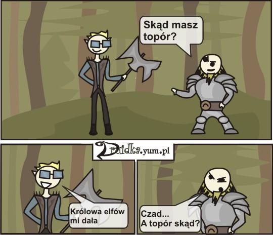 krolowa elfow druidka komiks