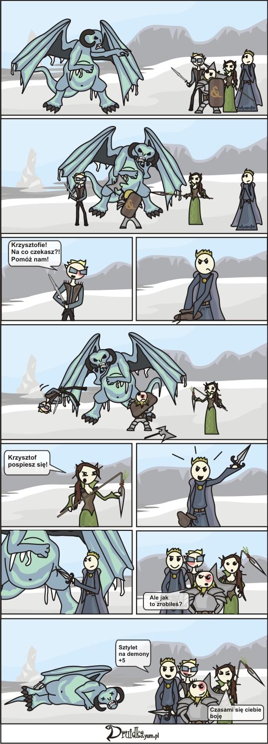 druidka komiks demon