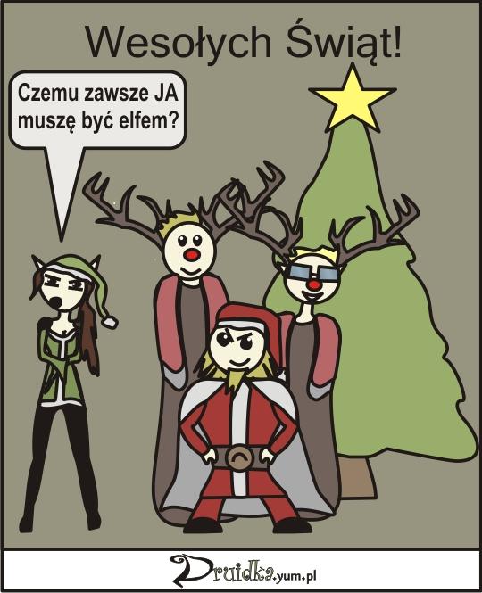 druidka komiks wesołych świąt