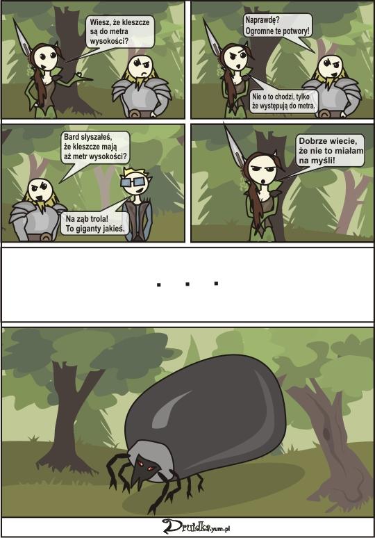 Kleszcze druidka komiks